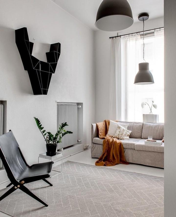 intérieur salon nordique couleur nuance creme blanc cassé beige hygge cosy