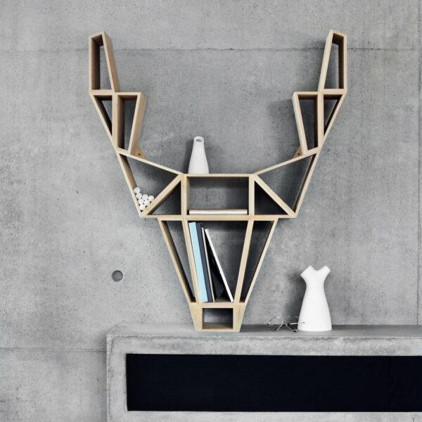 bedesing étagère tête silhouette cerf designer finlande - blog déco - clem around the corner