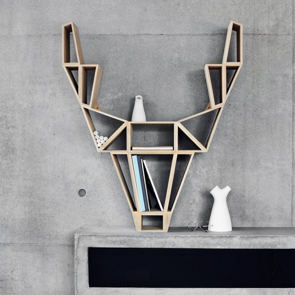 bedesign étagère tête silhouette cerf designer Finlande - blog déco - clem around the corner