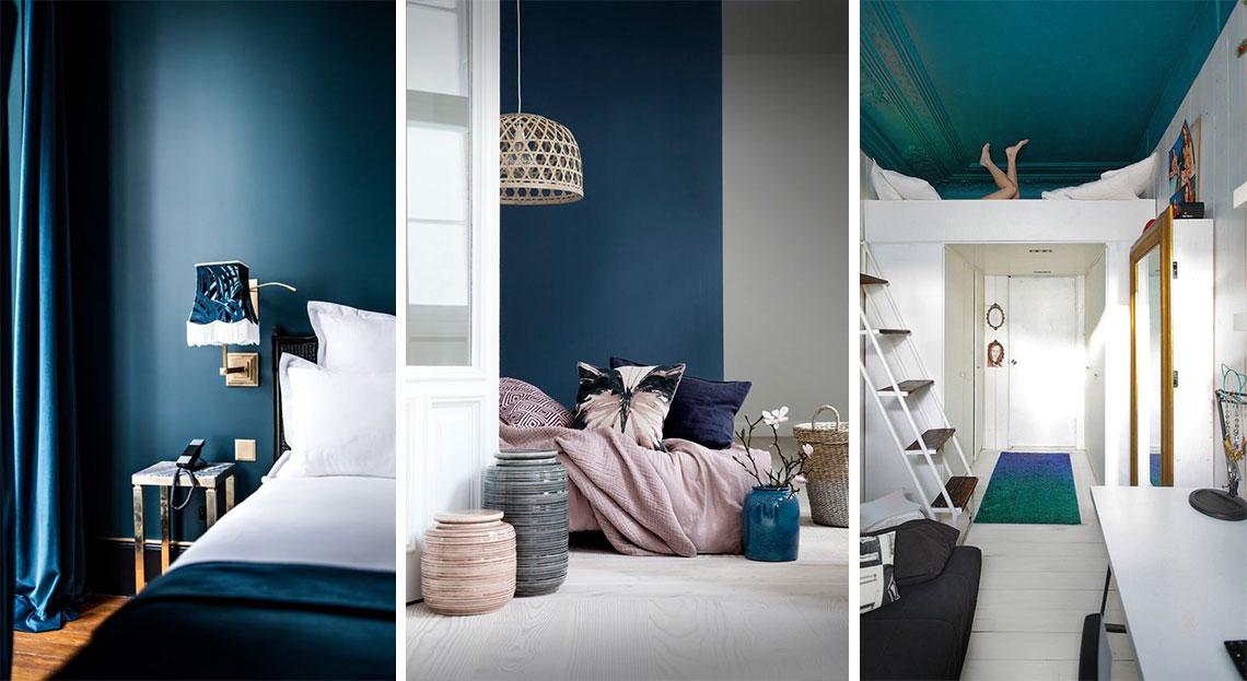 décoration chambre bleu canard peinture plafond - blog décoratrice interieur - clemaroundthecorner