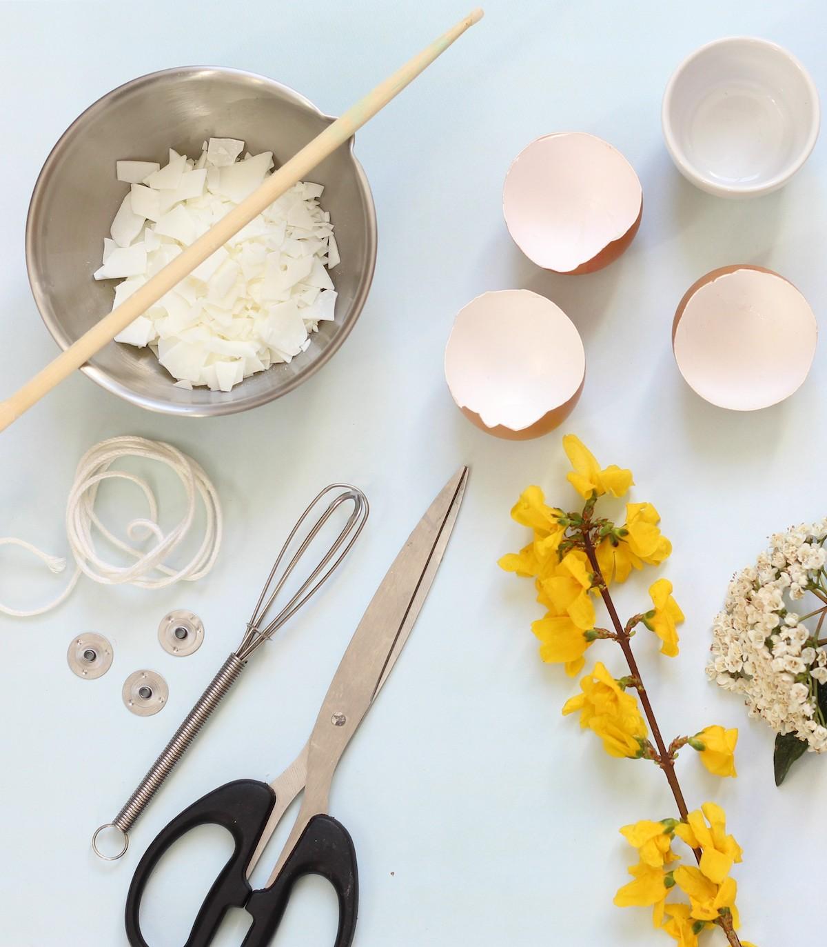 activité manuelle bougie oeuf parfumée upcycling décoration