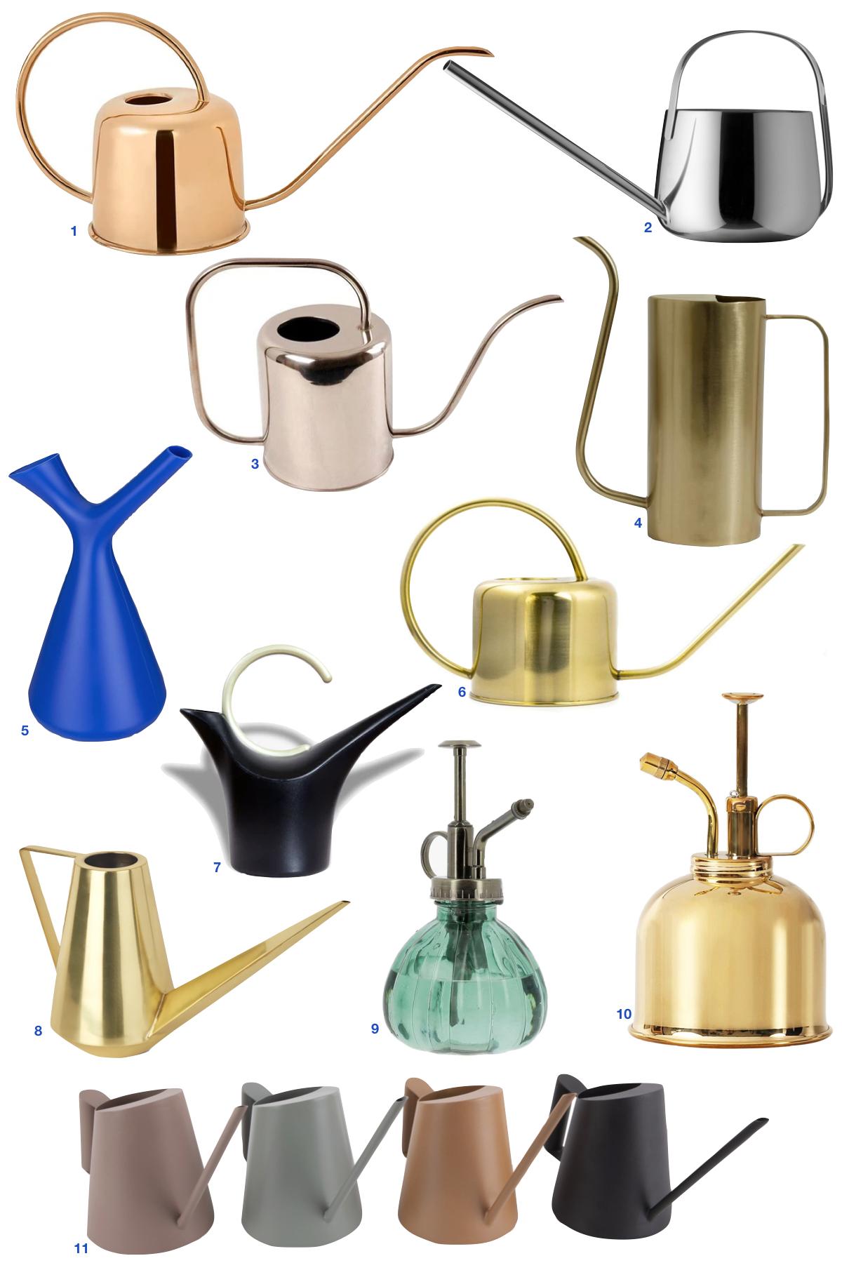 arrosoir design laiton doré cuivre métal plastique pour arroser plante intérieur - blog déco