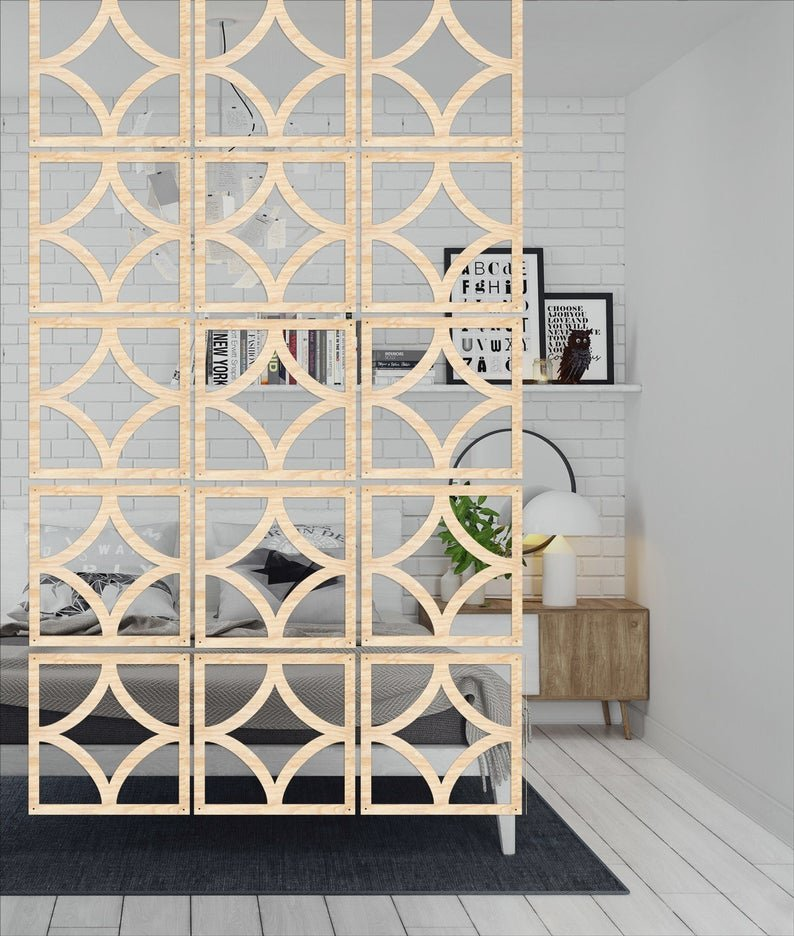 cloison bois clair contreplaqué design moderne épuré lumineux déco chambre