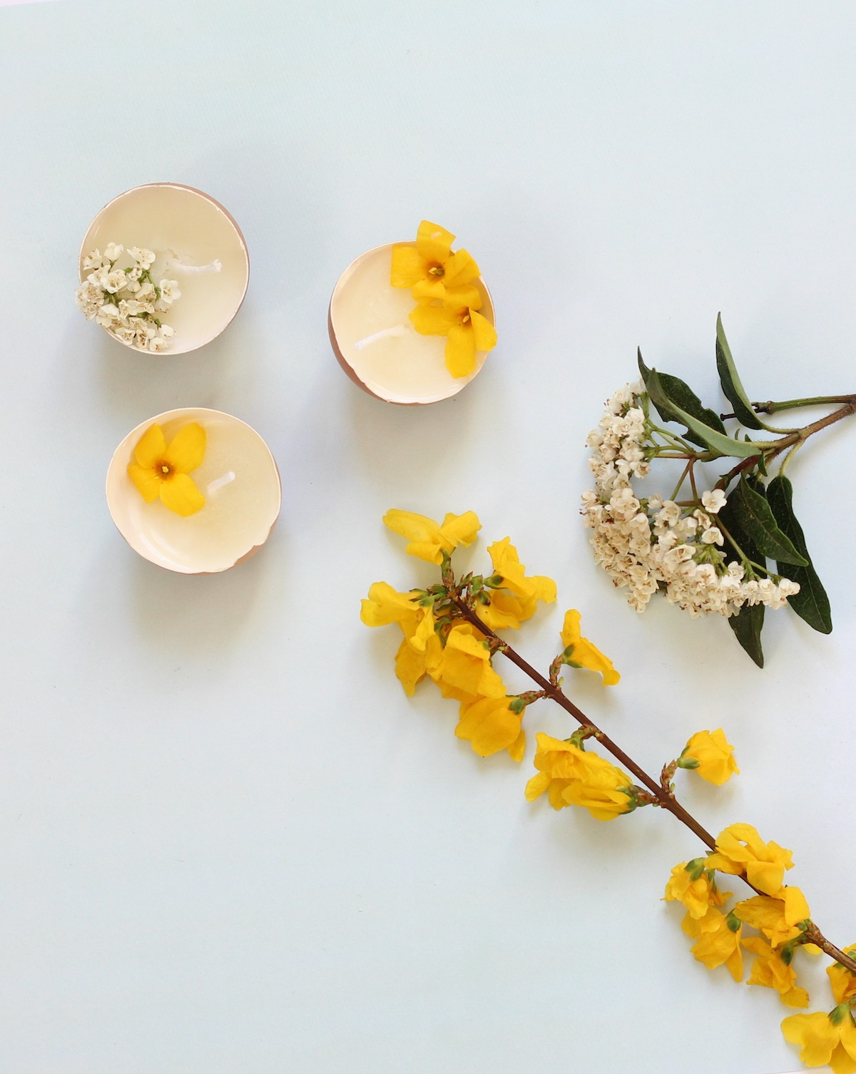 décoration de Printemps à faire soi-même bougie en fleur séchée - blog déco - clem around the corner