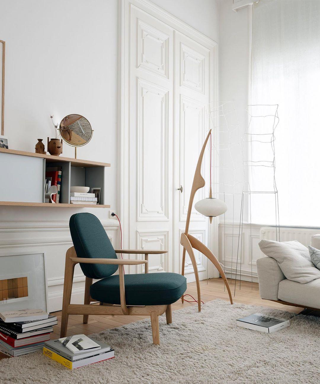 décoration salon retro chaise fred chair jaime hayon fritz hansen mante religieuse lampadaire rispal cassina