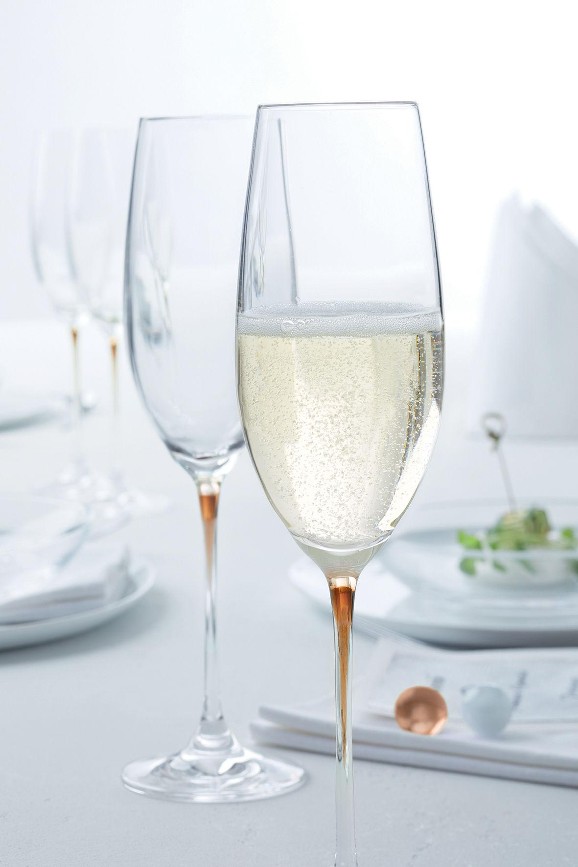 flute a champagne la perla déco orange - blog décoration