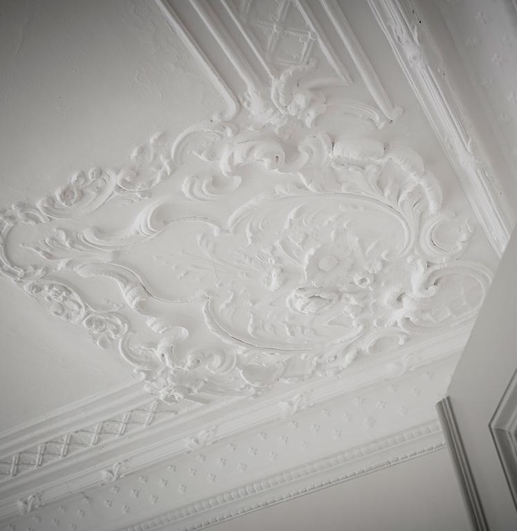 moulure plafond peinture blanche salon déco intérieure appartement scandinave