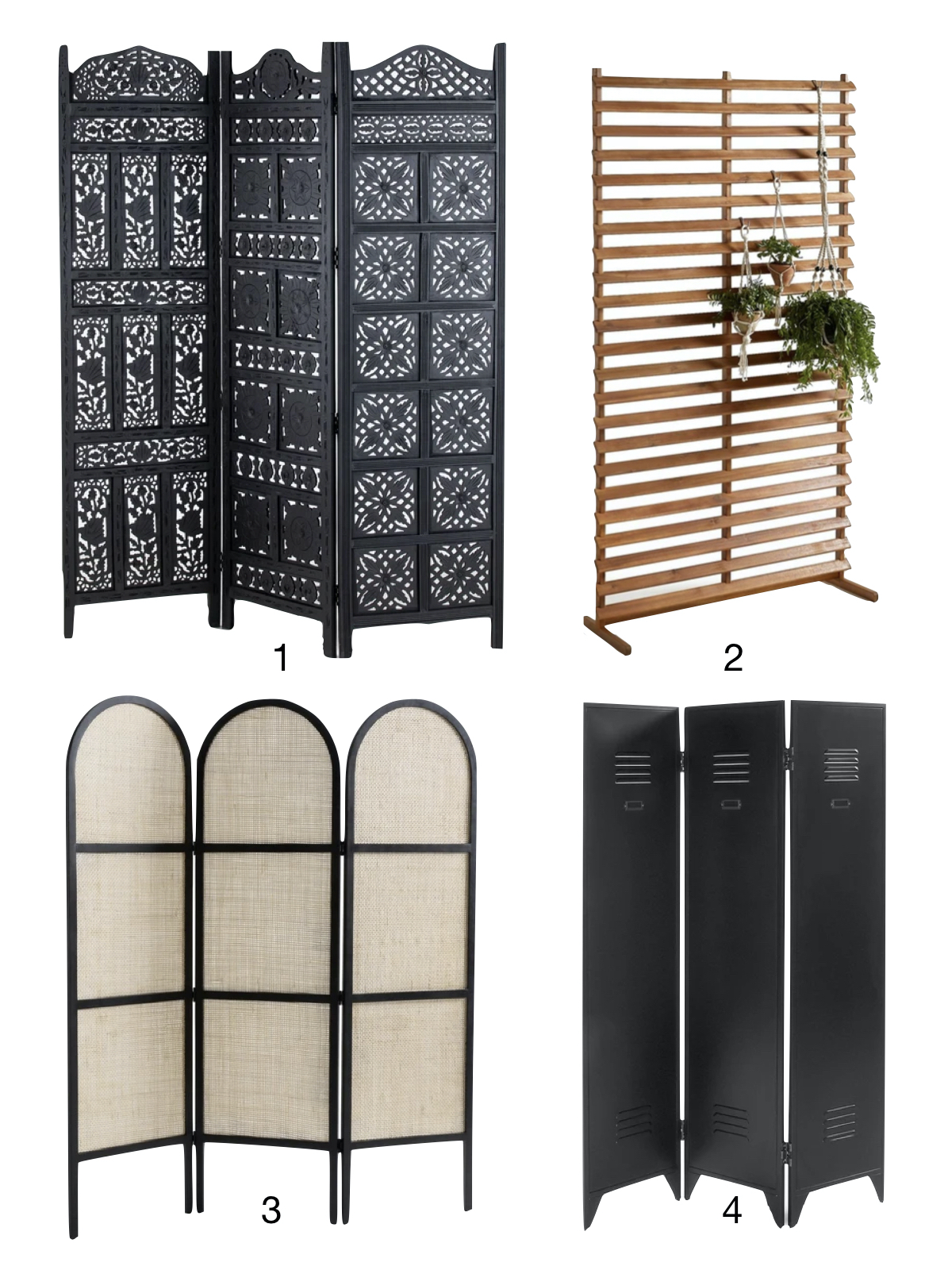 shopping liste paravents laredoute intérieure décoration - blog déco - clematc