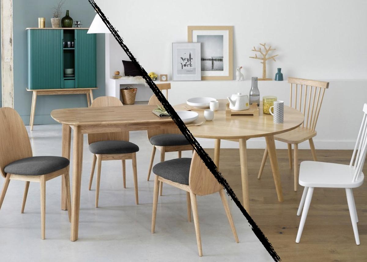 table ronde table rectangulaire - blog déco - clematc
