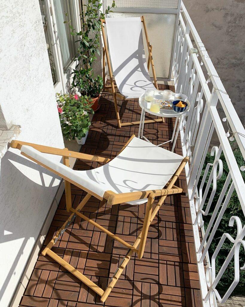 aménager balcon longueur transat coin cosy - blog déco - clem around the corner