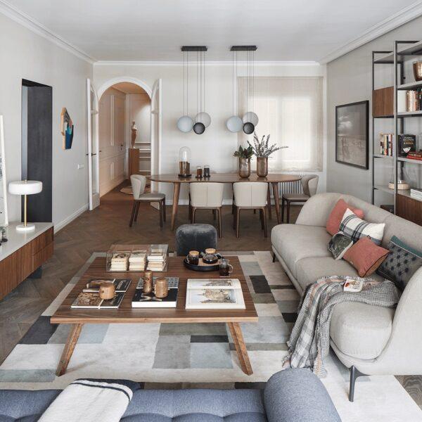 appartement Eixample salon néo style 50s - blog déco - clem around the corner