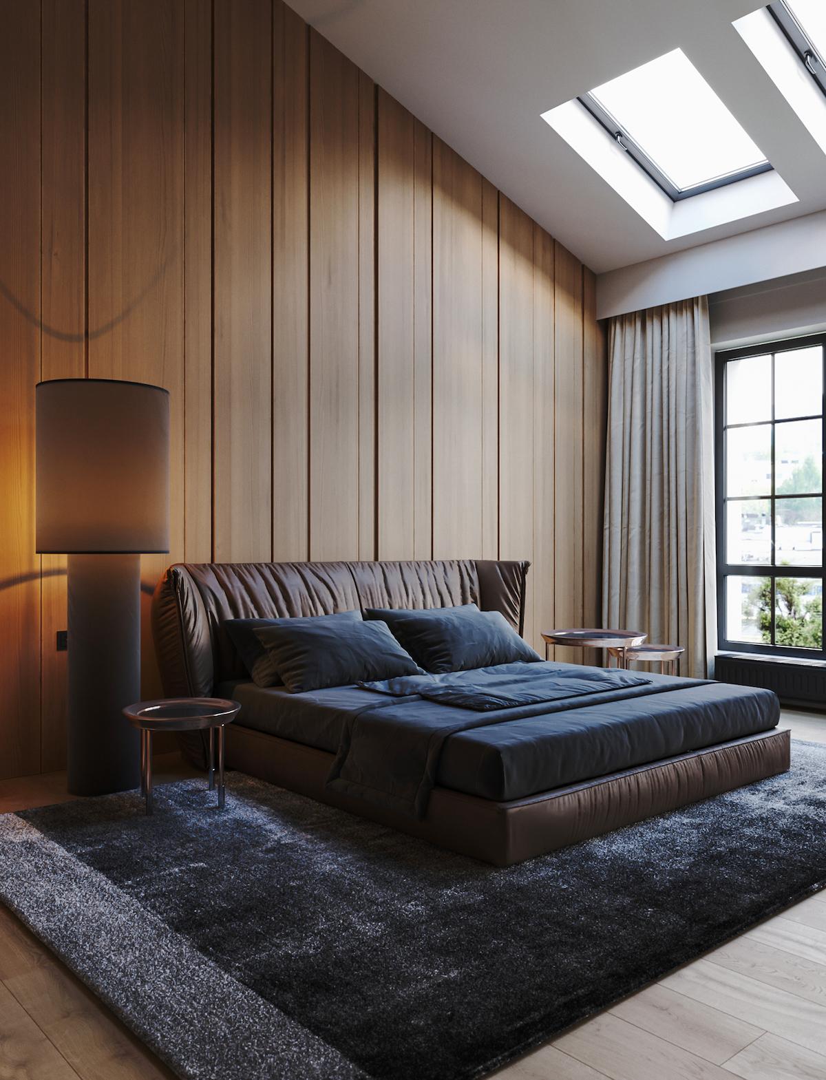 chalet moderne chambre sous les toits combles design - blog déco
