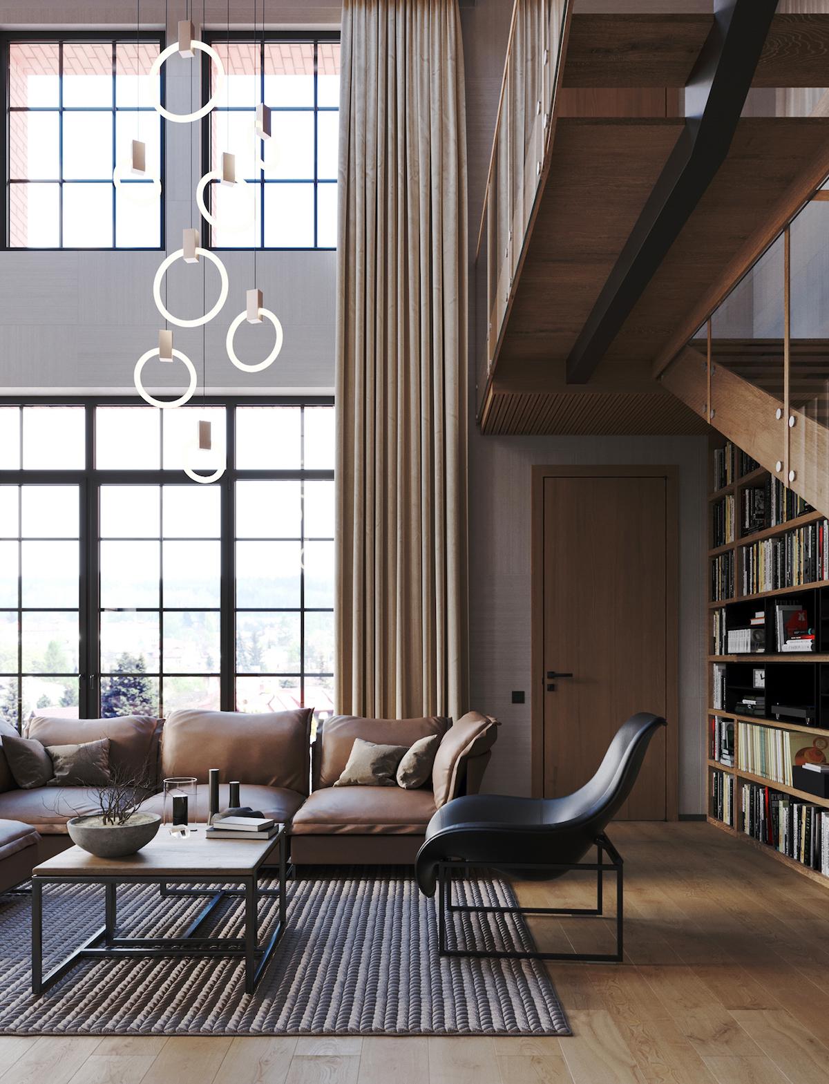 chalet moderne design suisse décoration masculine cosy neutre chic