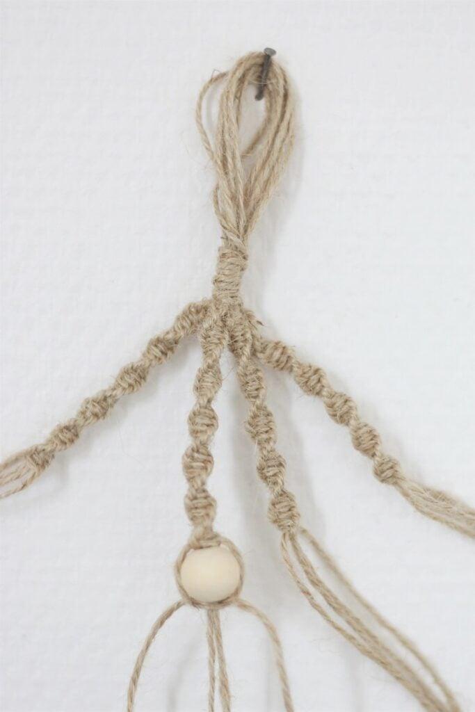 comment créer déco bohème porte-plante macramé diy corde brut
