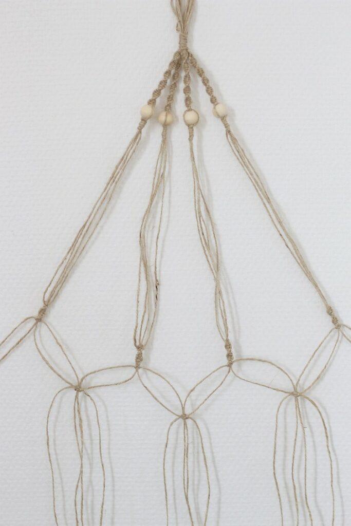créer un porte-plante en macramé diy corde nouer technique facile