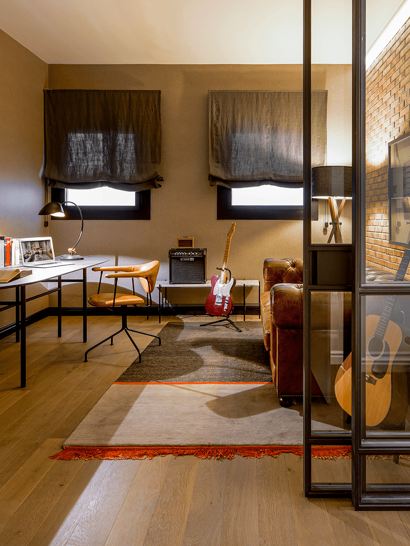 espace appartement Eixample télétravail studio musique maison aménagement
