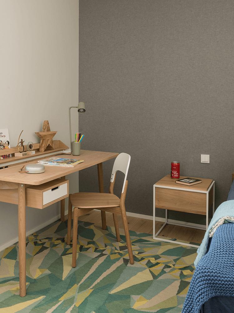 espace bureau chambre enfant style scandinave - blog décoration