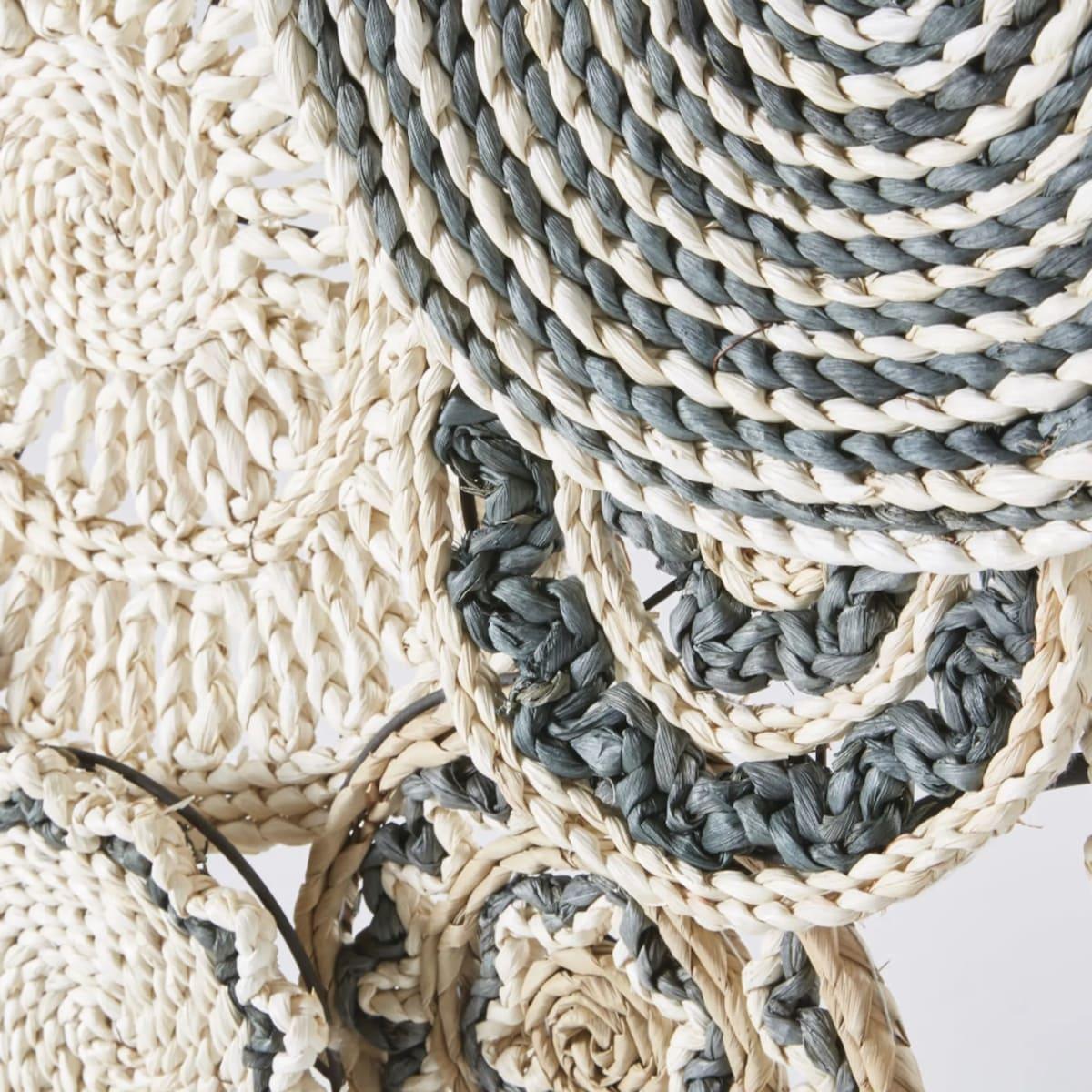 fibre végétale bicolore déco murale blog déco - clemaroundthecorner