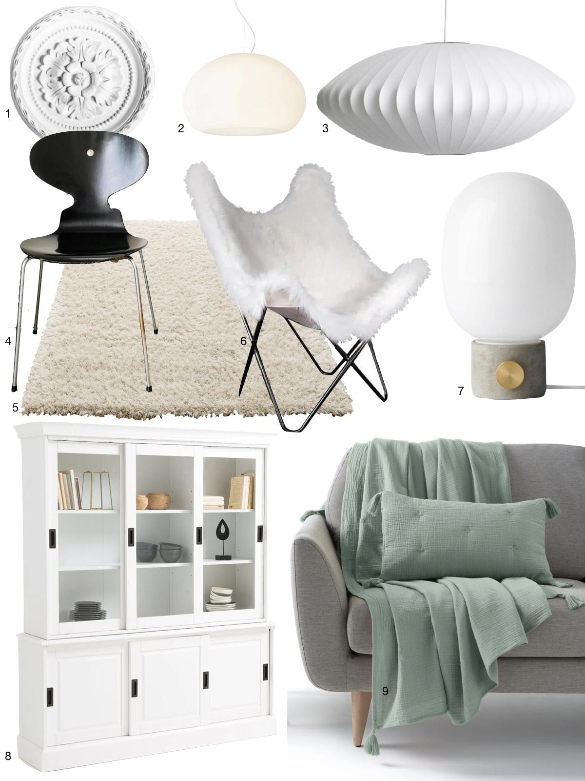 idée meuble décoration salon blanc danois design cosy