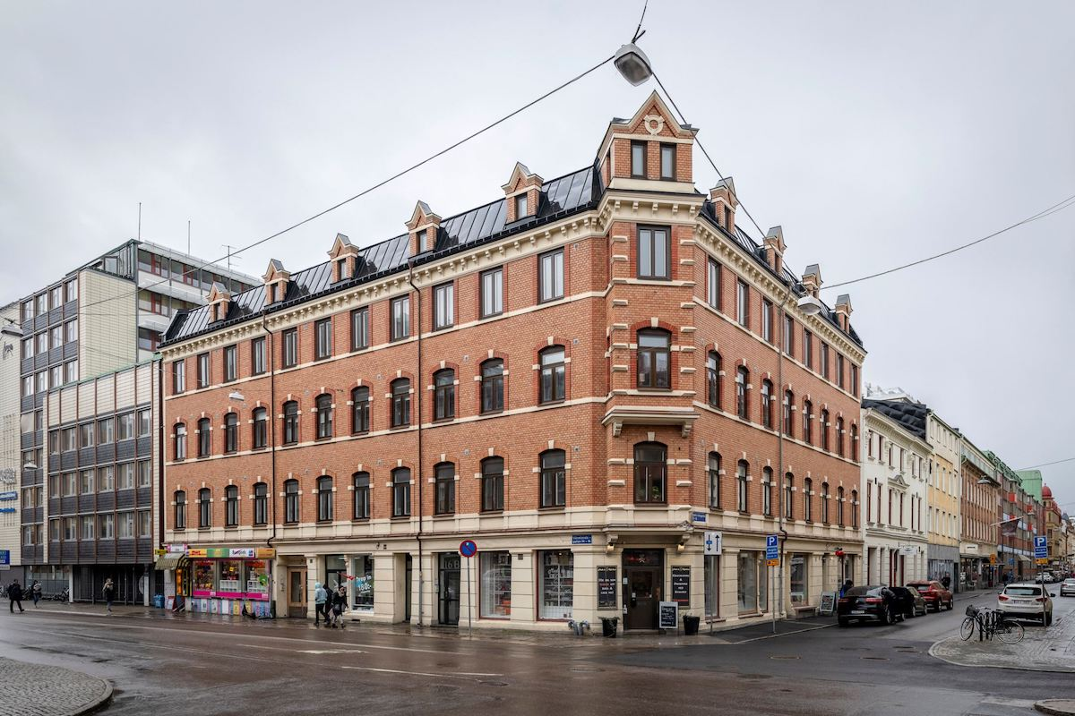 immeuble années 1880 Linnestaden Goteborg quartier Linné brique pierre