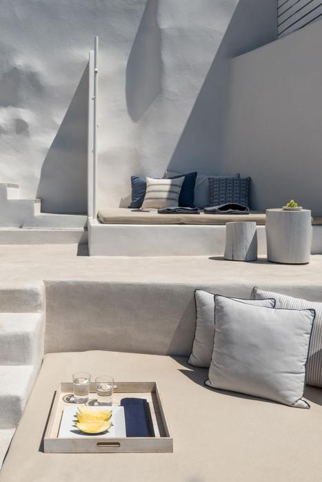 maison Santorin Grèce villa Crète blanc batiment architecture