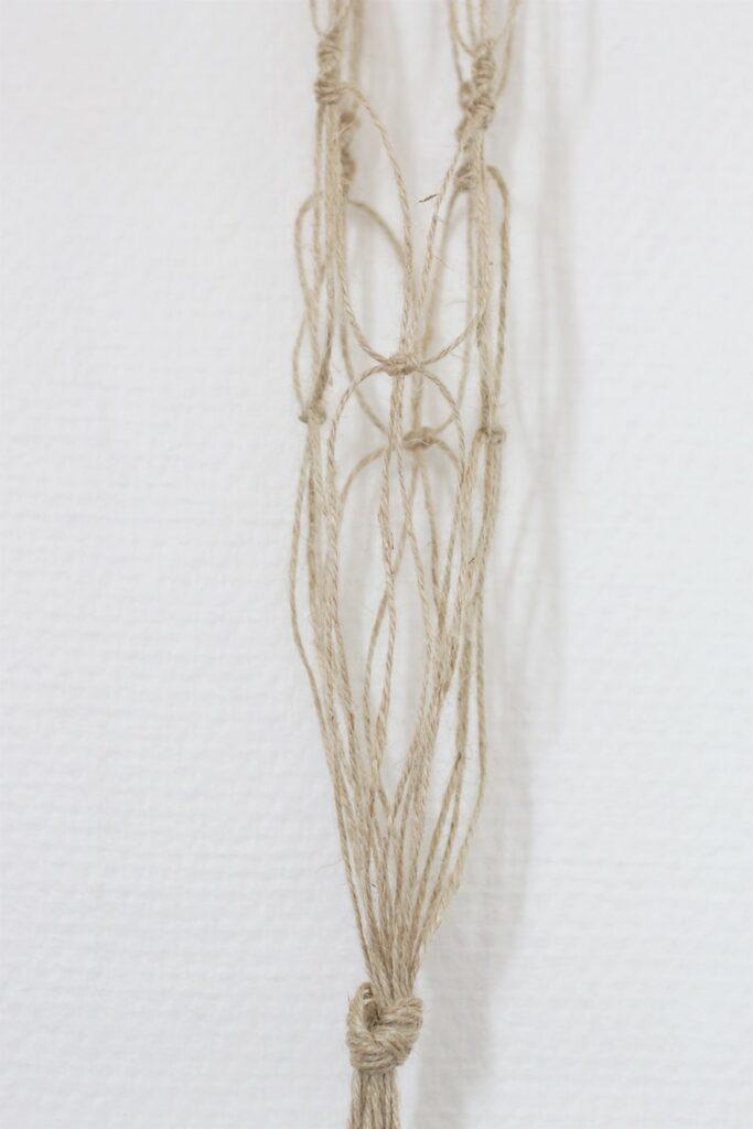 noeud cordelette pour vase suspendu décoration bohème bricolage enfant facile