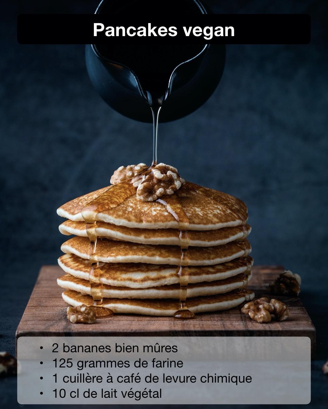 pancake vegan brunch végétarien banane recette dessert à faire avec enfant