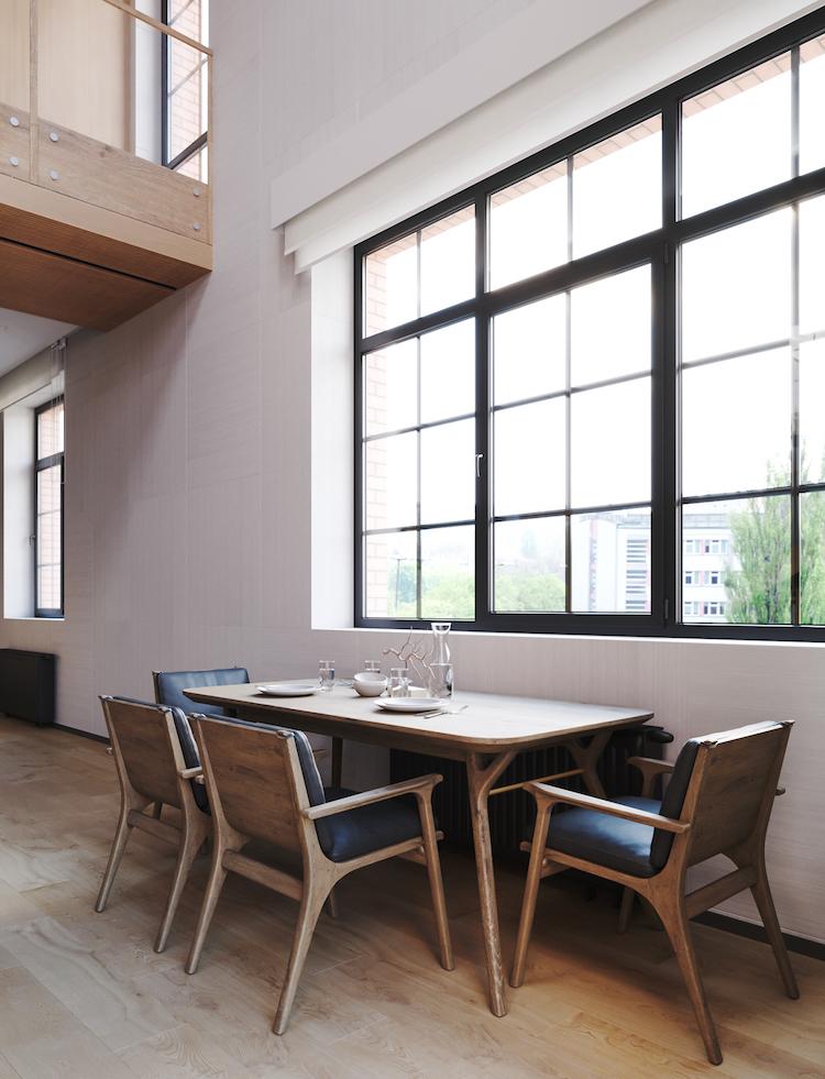 salle à manger déco montagne retro design 50s - blog décoration