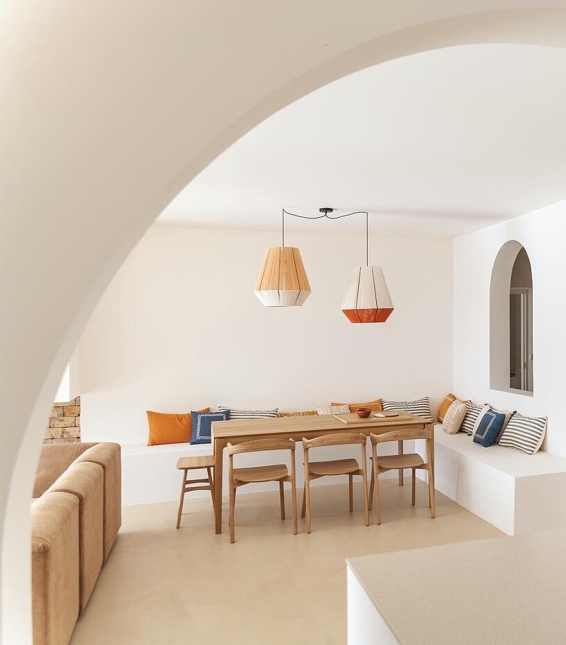 salle à manger décoration artisanale lampe suspension diy laine corde