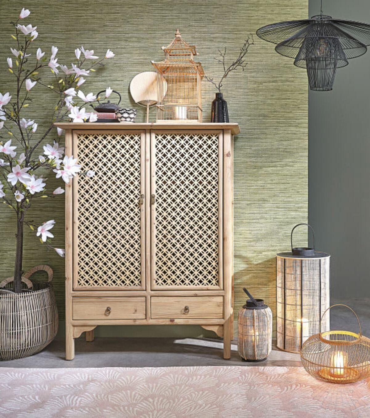 salon magnolia faux cerisier japonais nouvelle décoration maison du monde