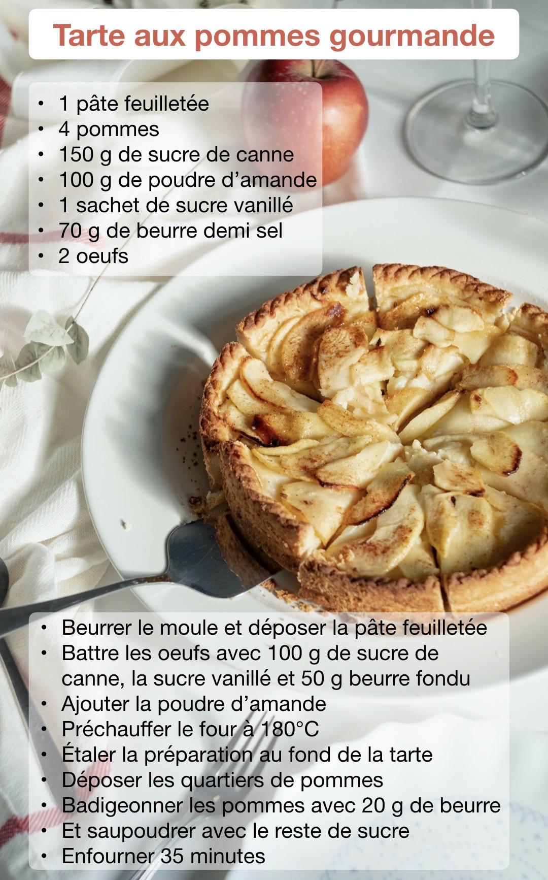 tarte pomme amande recette dessert à faire avec enfant