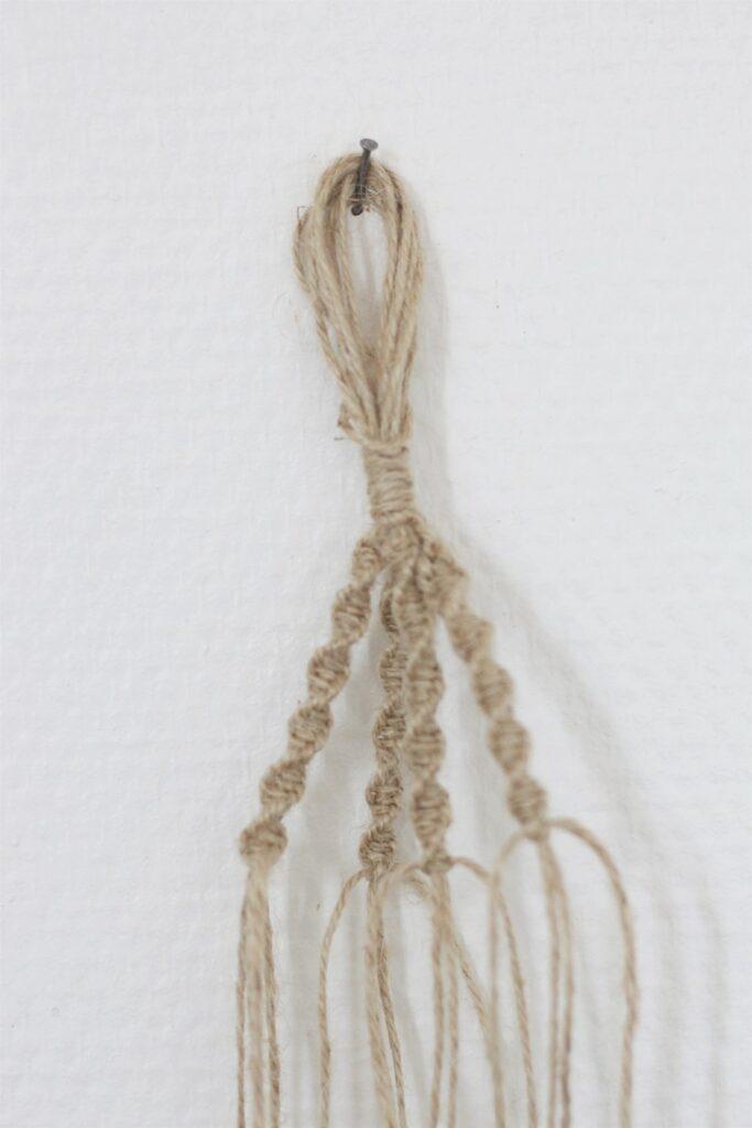 technique noeud torsadé pour suspension corde décoration bohème chic