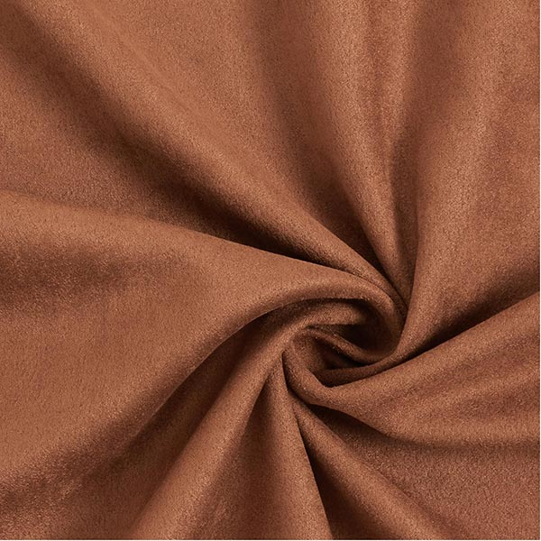 tissu suédine marron effet velours daim