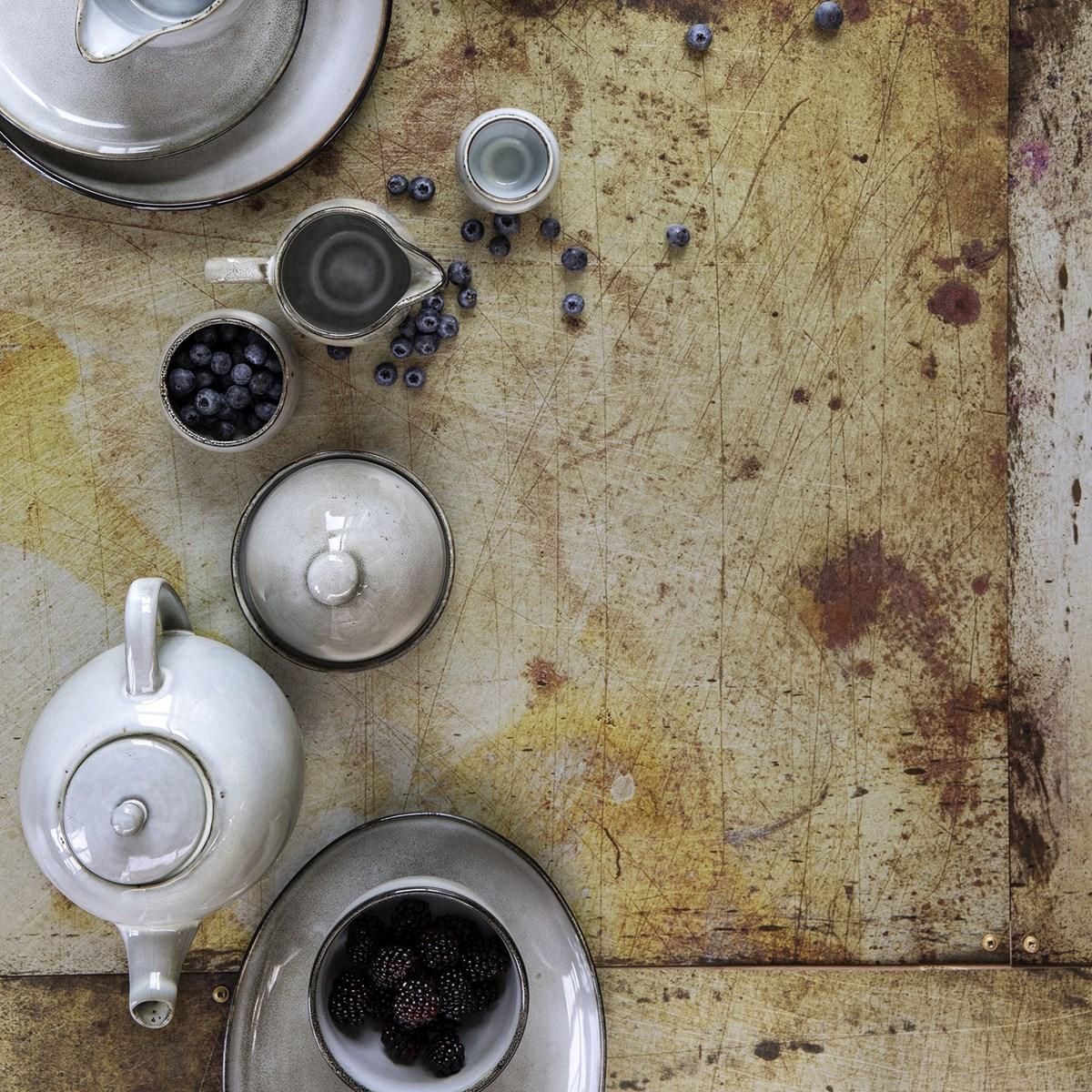 ustensile accessoire rustique vintage porcelaine grise blanc