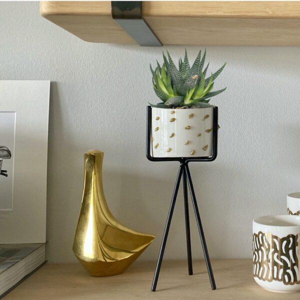 cache pot diy personnaliser plante - blog création deco - clem around the corner