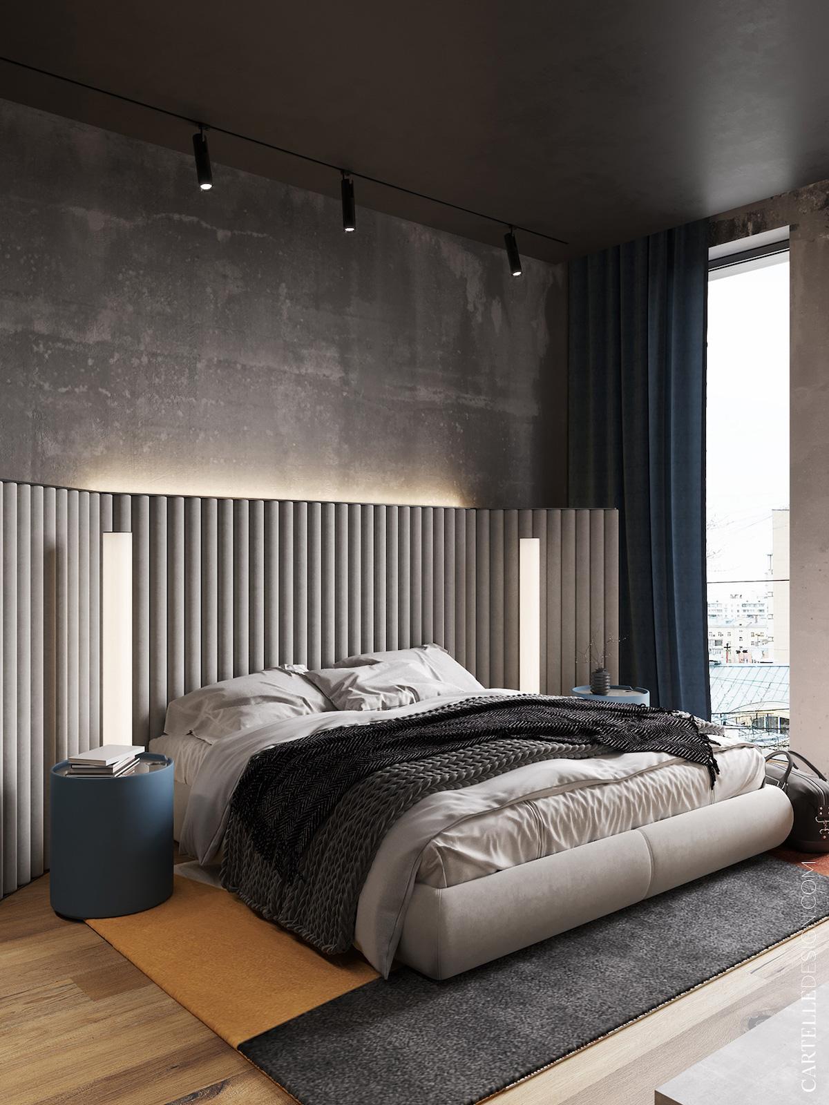 chambre tête de lit boudin tissu boudoir design - blog décoratrice intérieur clem around the corner