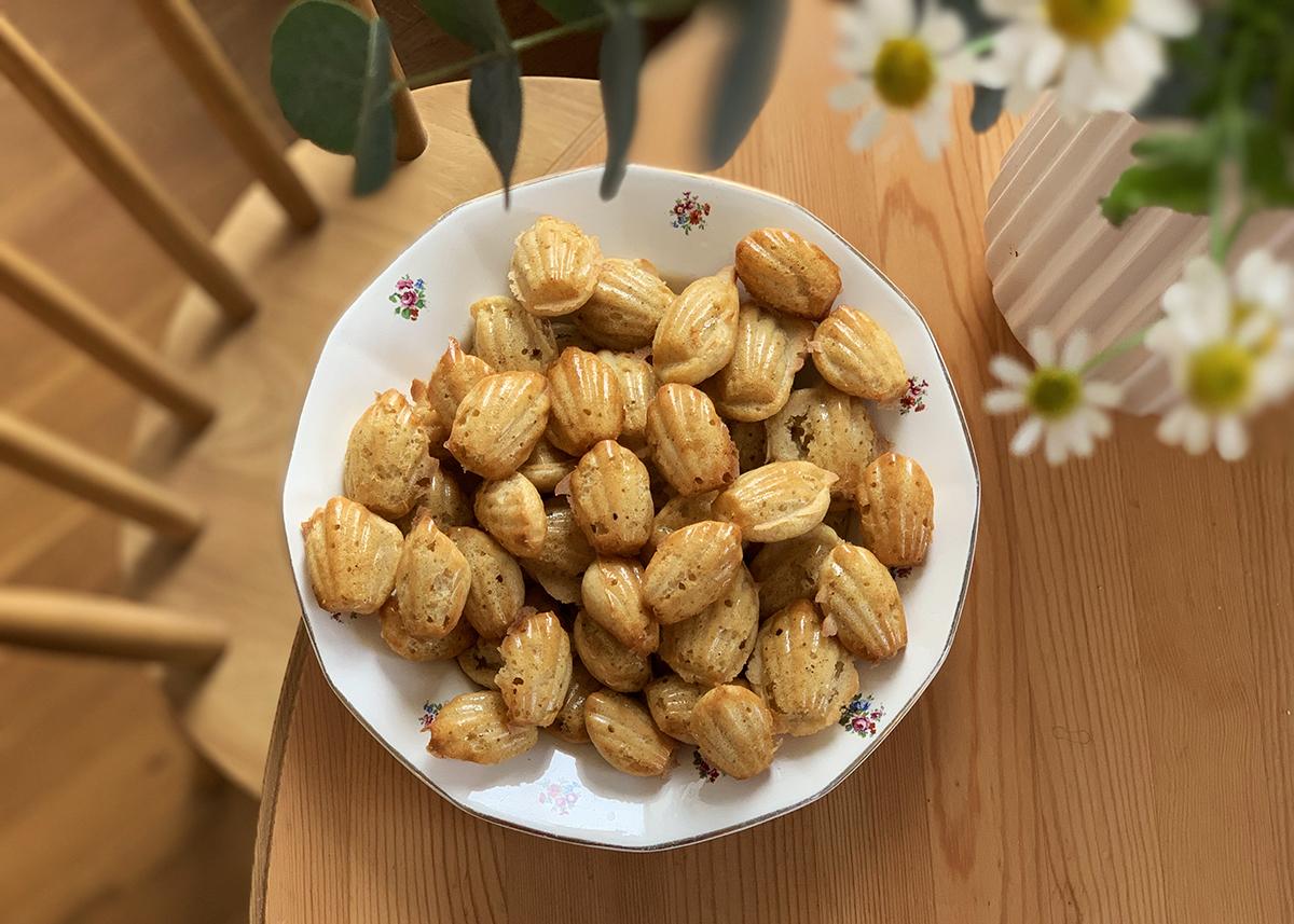 Madeleine sans beurre recette light leger cuisine facile pour gouter anniversaire buffet sucré