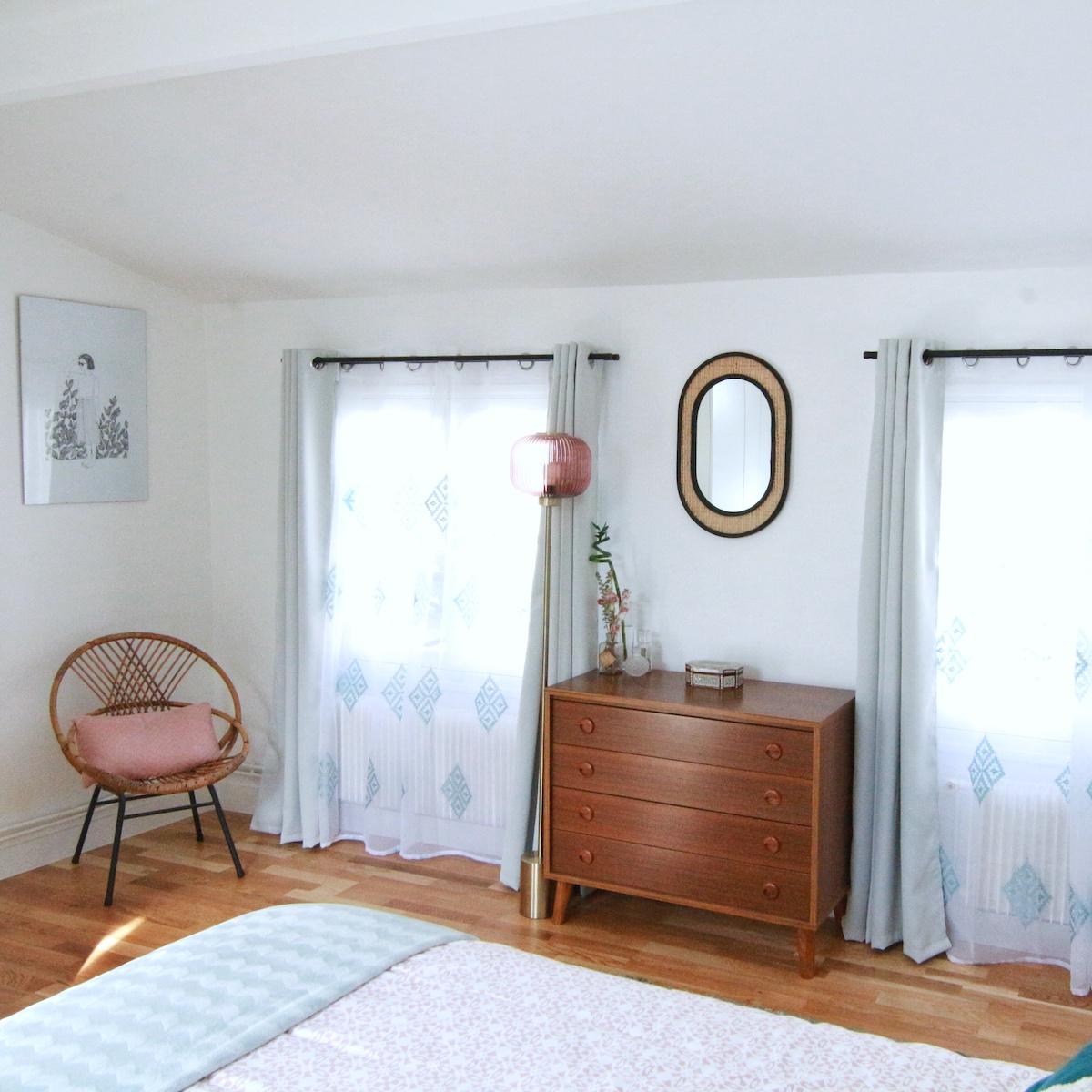 déco intérieure blog clematc meuble rangement bois appartement sous toits
