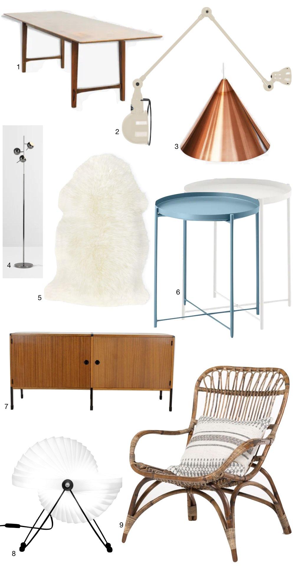 design mobilier meuble iconique emblématique années 50 fifties mid-century Renz Fabricius