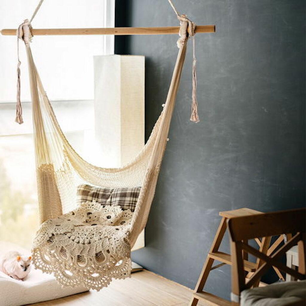 hamac intérieur chaise suspendu fauteuil suspendu siège fauteuil - blog déco - clemaroundtheocrner