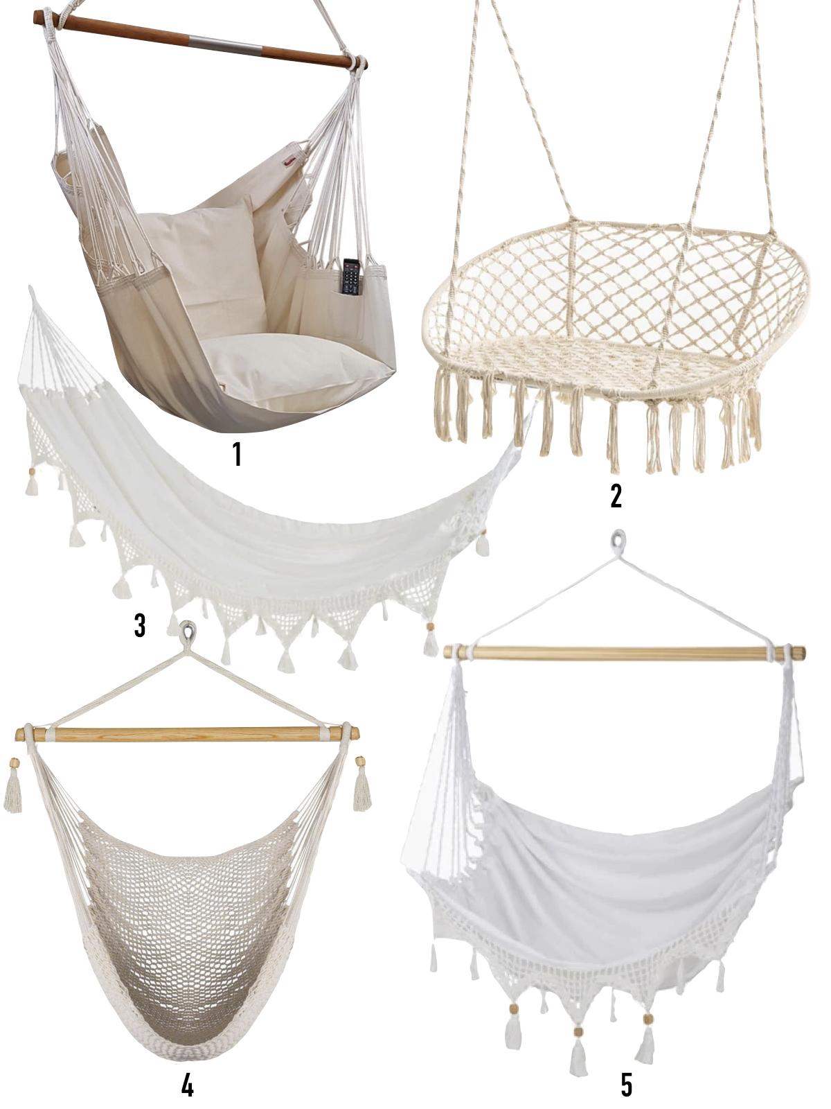 hama style bohème cocooning chaise suspendue - blog déco - clematc