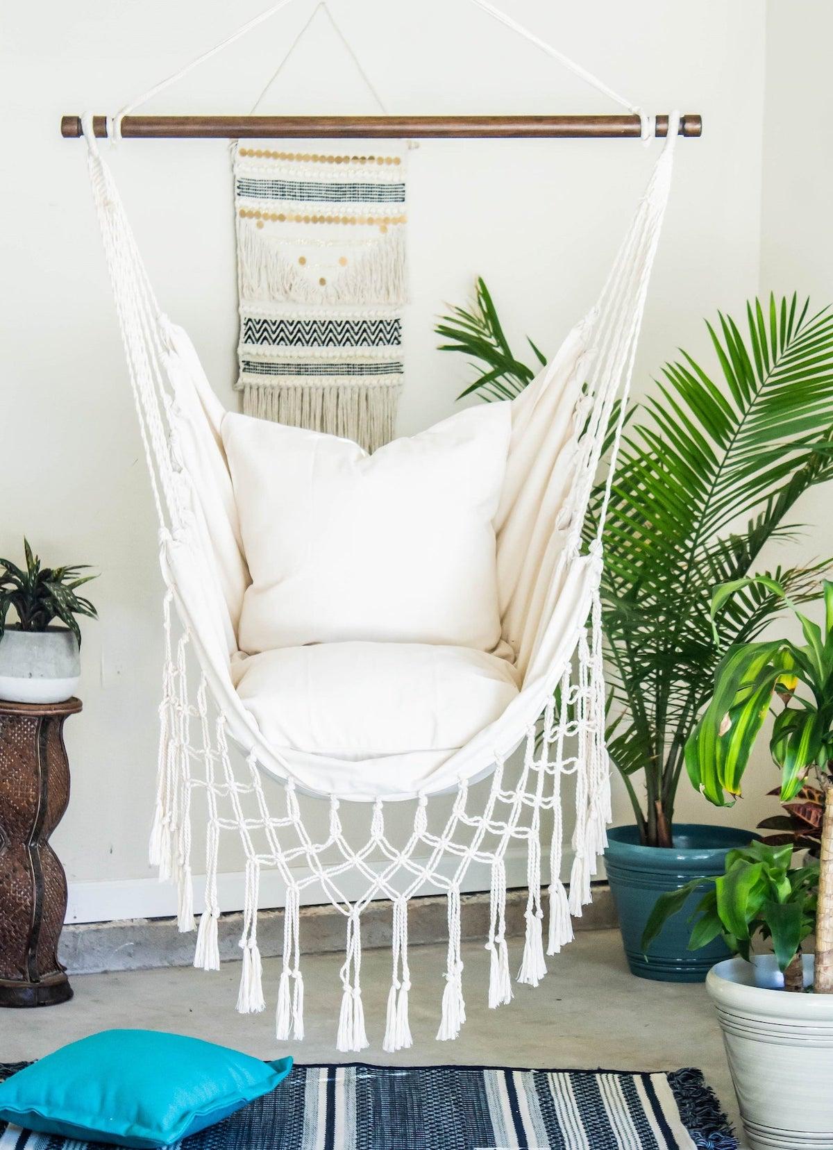 macramé hammock chair chaise hamac style bohème