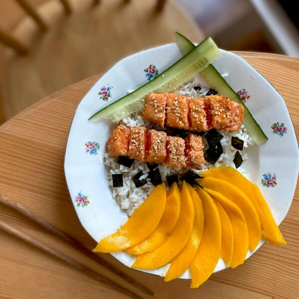 tataki saumon chirashi salmon recette recipe eat healthy-japan-cru-mango