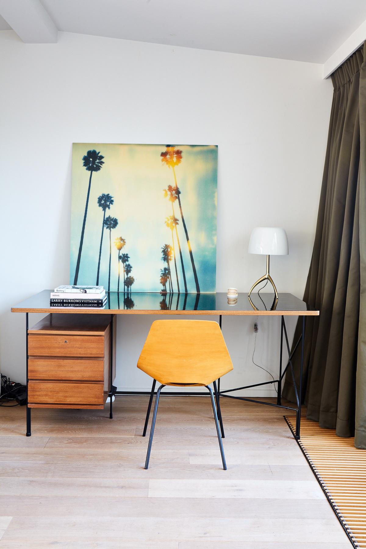 espace bureau travail maison style déco années 30 rétro vintage