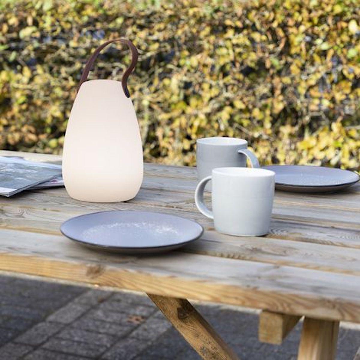 lampe de table led rechargeable blanc table déco