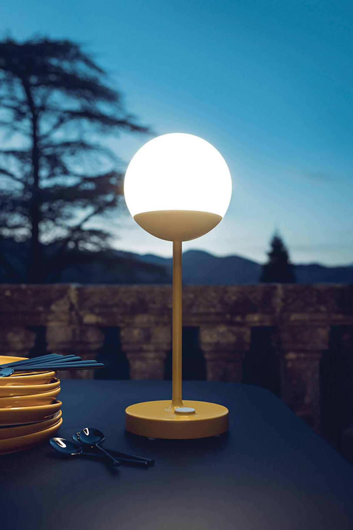 lampe sans fil mooon led miel balcon éclairage