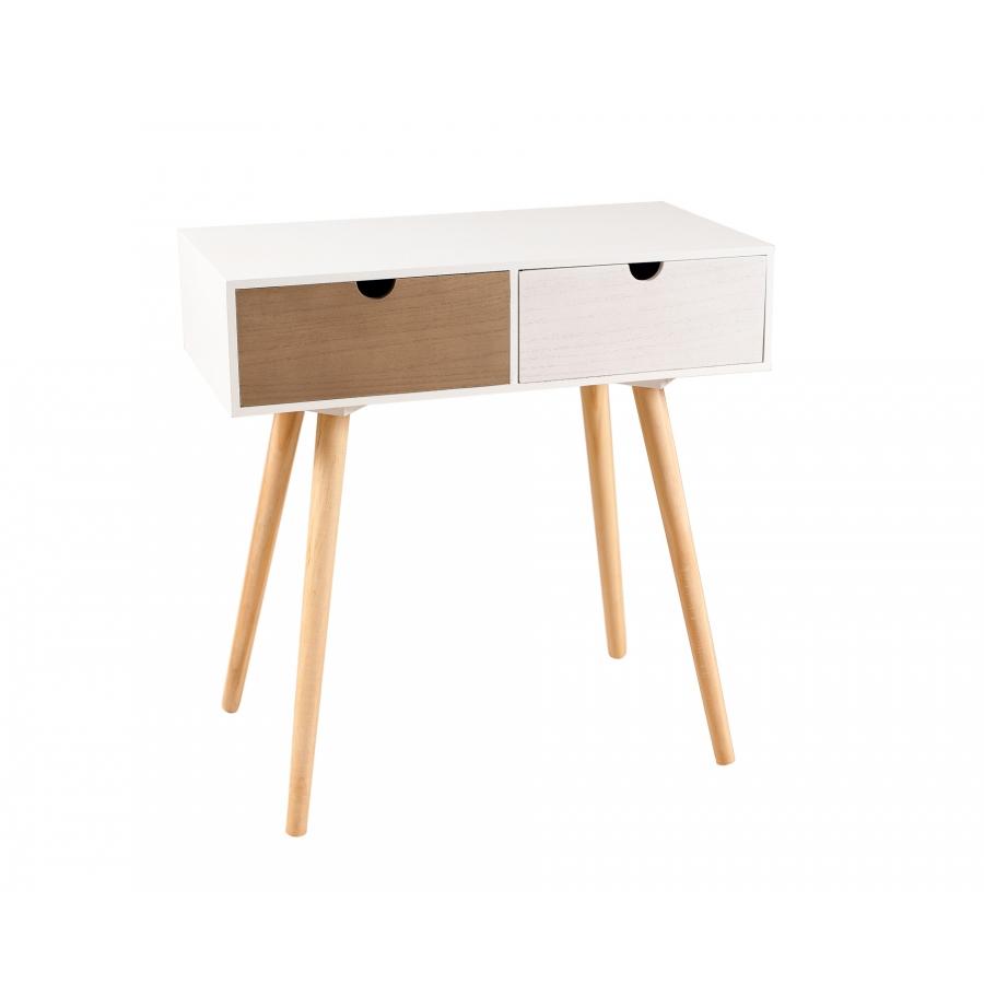 meuble scandinave entrée tiroir design pas cher blanc gris bois