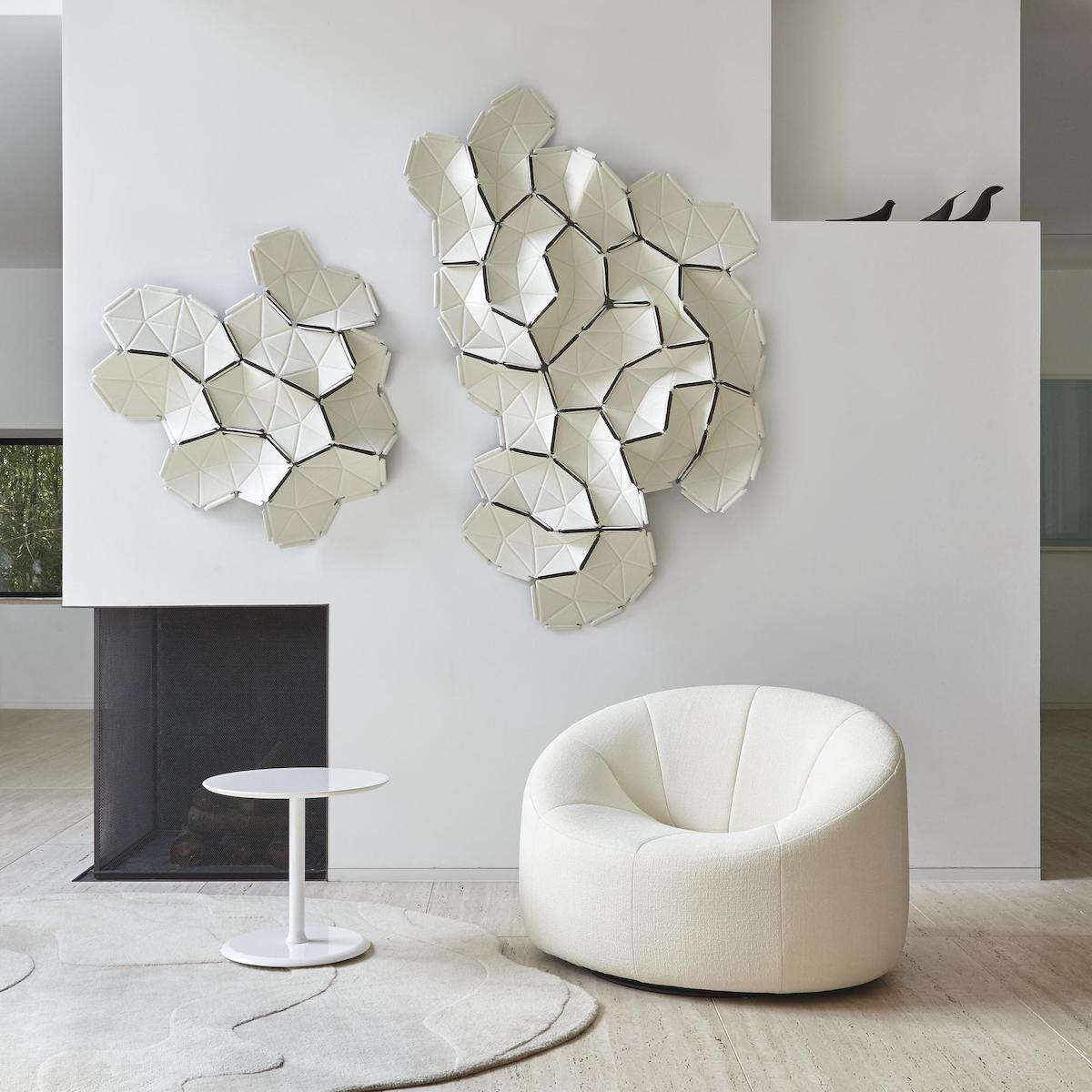 pierre paulin design contemporain fauteuil rond blanc décoration élégante lumineuse