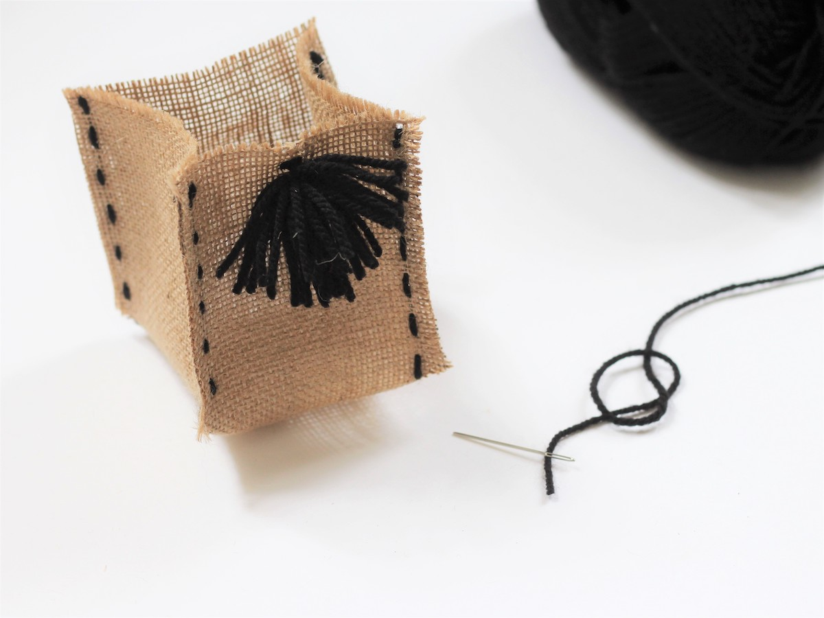 pot rangement toile tissu organisation bureau crayon Marie Kondo diy