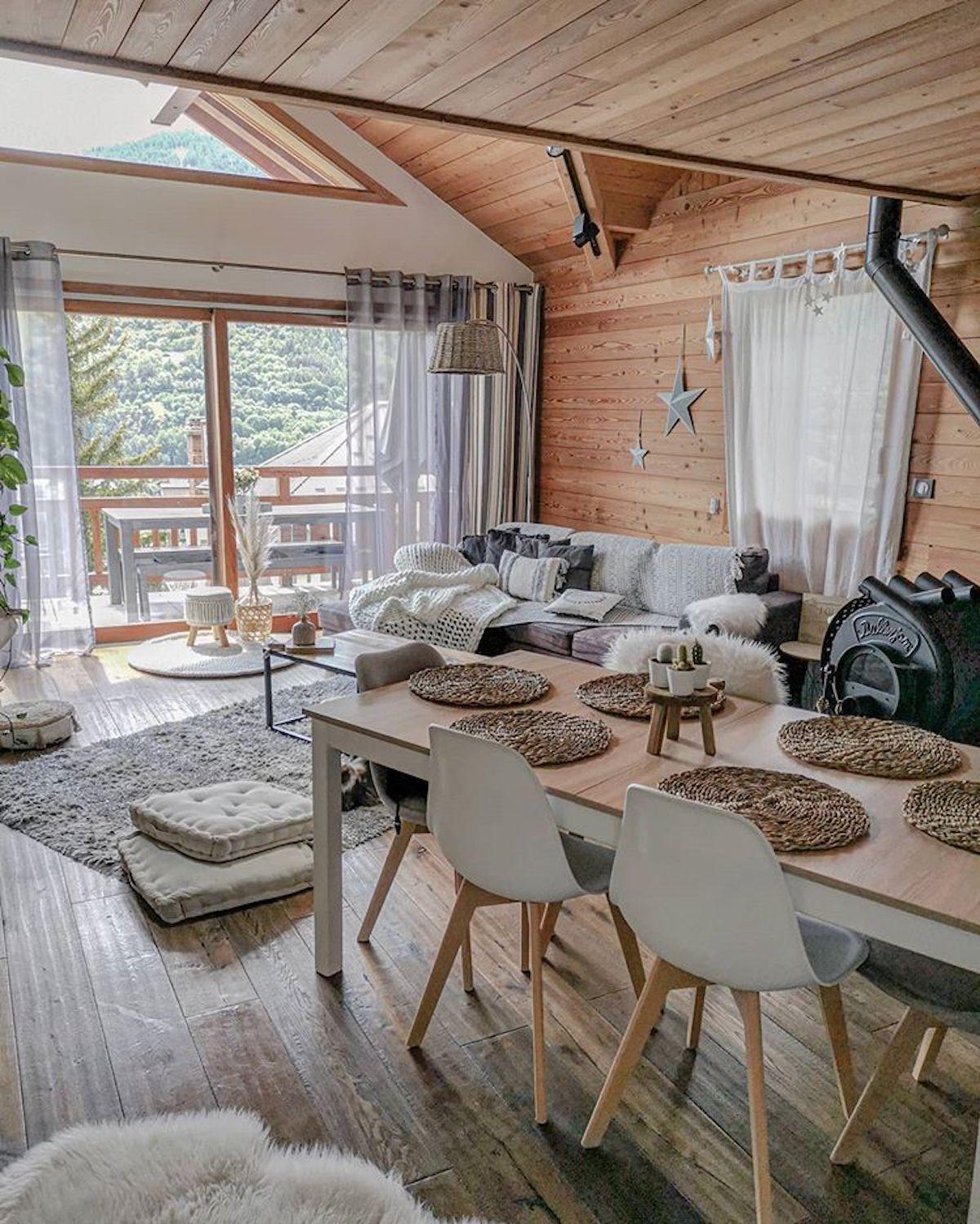 séjour salle à manger montagne scandinave - blog déco - clematc